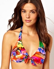 Seafolly Festival Tie Front Halter Bikini Top