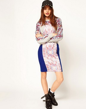 Image 4 ofASOS Africa Jacquard and Jersey Dress