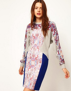 Image 1 ofASOS Africa Jacquard and Jersey Dress