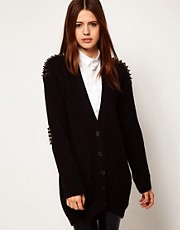 ASOS Cardigan With Studded Patches