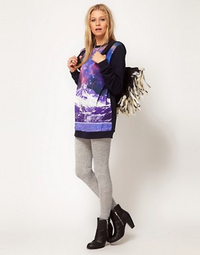 Image 4 ofASOS Sweatshirt with Space Mountain Print