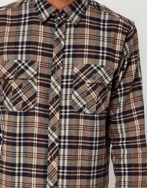 Image 3 of Solid Shirt with Flannel Check