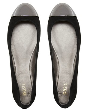 Image 3 ofOasis Toecap Ballet Flats