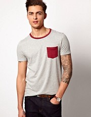 ASOS T-Shirt With Contrast Pocket And Neck Trim