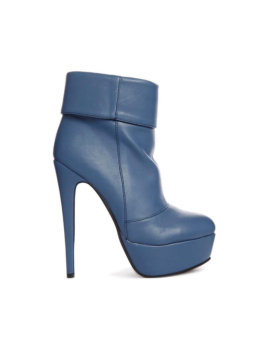 Sugarfree Madelaine Heeled Boot - Blue