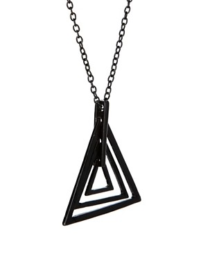 Image 4 ofASOS Geo Triangle Pendant Necklace