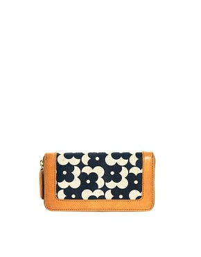 Image 1 ofOrla Kiely Big Zip Flower Dot Wallet