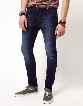 Image 1 ofASOS Skinny Jeans In Dark Wash