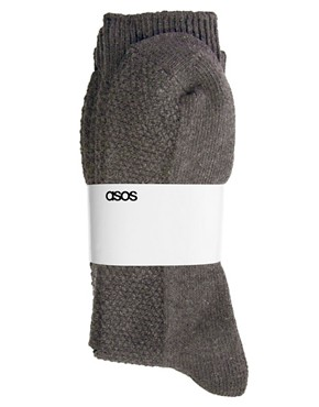 Image 3 ofASOS 3 Pack Waffle Socks