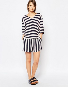 Samsoe & Samsoe Gessi Shorts in Stripe