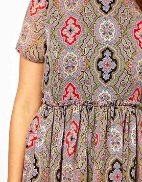 Image 3 ofASOS CURVE Skater Dress in Paisley Print