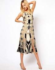Needle &amp; Thread Illuminate Silk Midi Dress