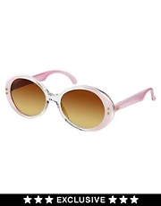 Gafas de sol retro en rosa vintage de Jeepers Peepers