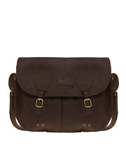 Barbour Waxed Leather Messenger Bag