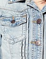 Image 3 ofRiver Island Pleat Front Denim Western Jacket