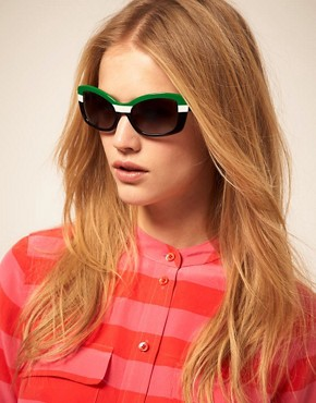 Image 3 ofPrada Striped Sunglasses