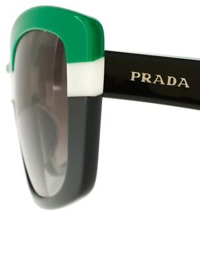 Image 4 ofPrada Striped Sunglasses