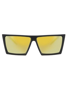 Image 2 ofASOS Sunglasses with Flat Brow and Coloured Mirror Lens