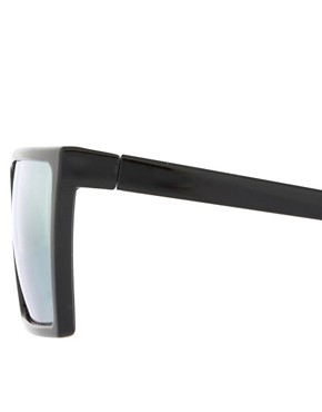 Image 4 ofASOS Sunglasses with Flat Brow and Coloured Mirror Lens