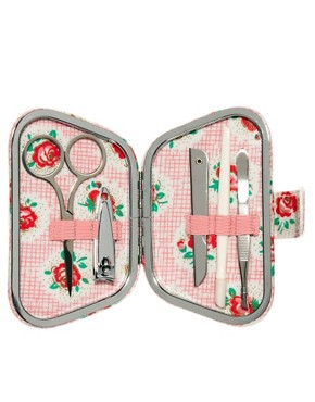 Image 1 ofCath Kidston Lattice Rose Manicure Set