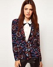 ASOS Blazer In Stain Glass Print
