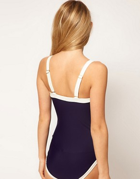 Image 2 ofTed Baker Nautical Cross Back Swimsuit