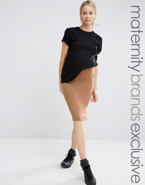 Club L Lounge Maternity Midi Skirt