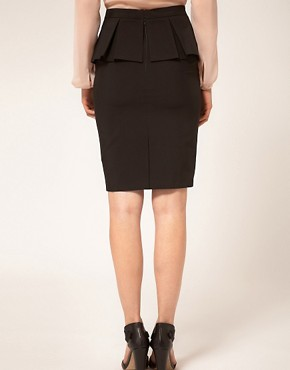 Image 2 ofASOS Smart Pencil Skirt With Peplum