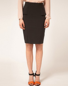 Image 4 ofASOS Smart Pencil Skirt With Peplum