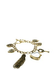 Accessorize Watch Charm Bracelet With Heart Charms