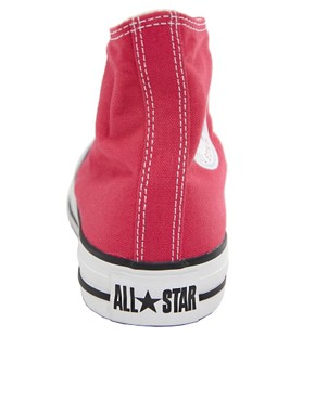 Image 2 ofConverse All Star Seasonal Raspberry High Top Trainers