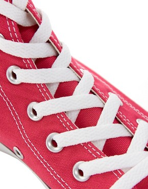 Image 3 ofConverse All Star Seasonal Raspberry High Top Trainers