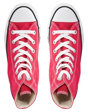Image 4 ofConverse All Star Seasonal Raspberry High Top Trainers
