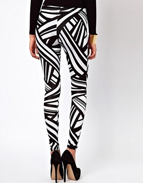 Image 2 ofASOS Leggings in Tribal Print