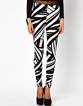 Image 4 ofASOS Leggings in Tribal Print