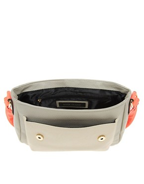 Image 2 ofRiver Island Grey Neon Trim Satchel