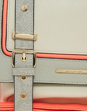 Image 4 ofRiver Island Grey Neon Trim Satchel