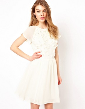 Image 1 ofTed Baker Prom Dress with Floral Embellishment
