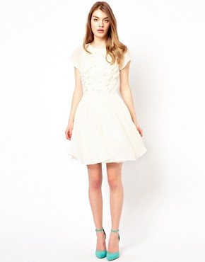 Image 4 ofTed Baker Prom Dress with Floral Embellishment