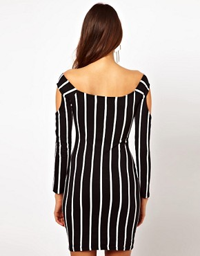 Image 2 of Motel Sophie 90's Dress With Cold Shoulder