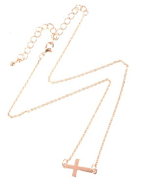 Image 2 ofASOS Fine Cross Charm Necklace