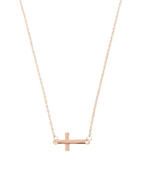 Image 1 ofASOS Fine Cross Charm Necklace
