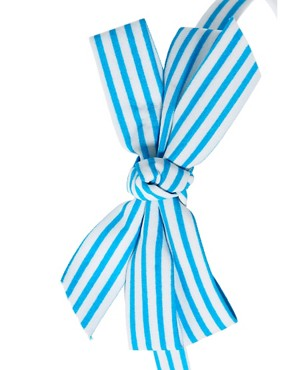 Image 3 ofJohnny Loves Rosie Striped Bow Alice Band