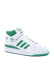 Zapatillas de deporte hi-top de cuero de Adidas Originals