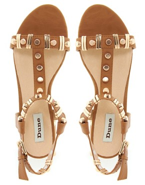 Image 4 ofDune Funkie Tan Mid Heeled Sandals