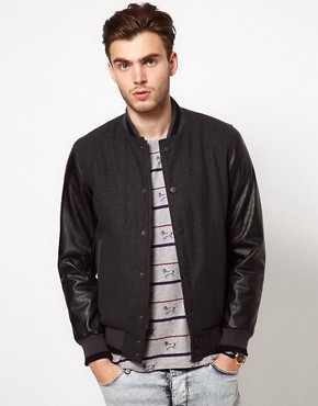 Image 1 ofASOS Wool Baseball Jacket
