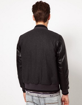 Image 2 ofASOS Wool Baseball Jacket