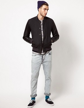 Image 4 ofASOS Wool Baseball Jacket