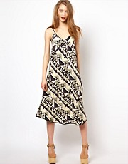 Viva Vena Thunderbird Slip Dress in Geo Print