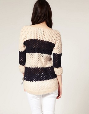 Image 2 ofRiver Island Stripe Slouchy Jumper
